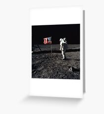 Buzz Aldrin and the U.S. Flag on The Moon Greeting Card