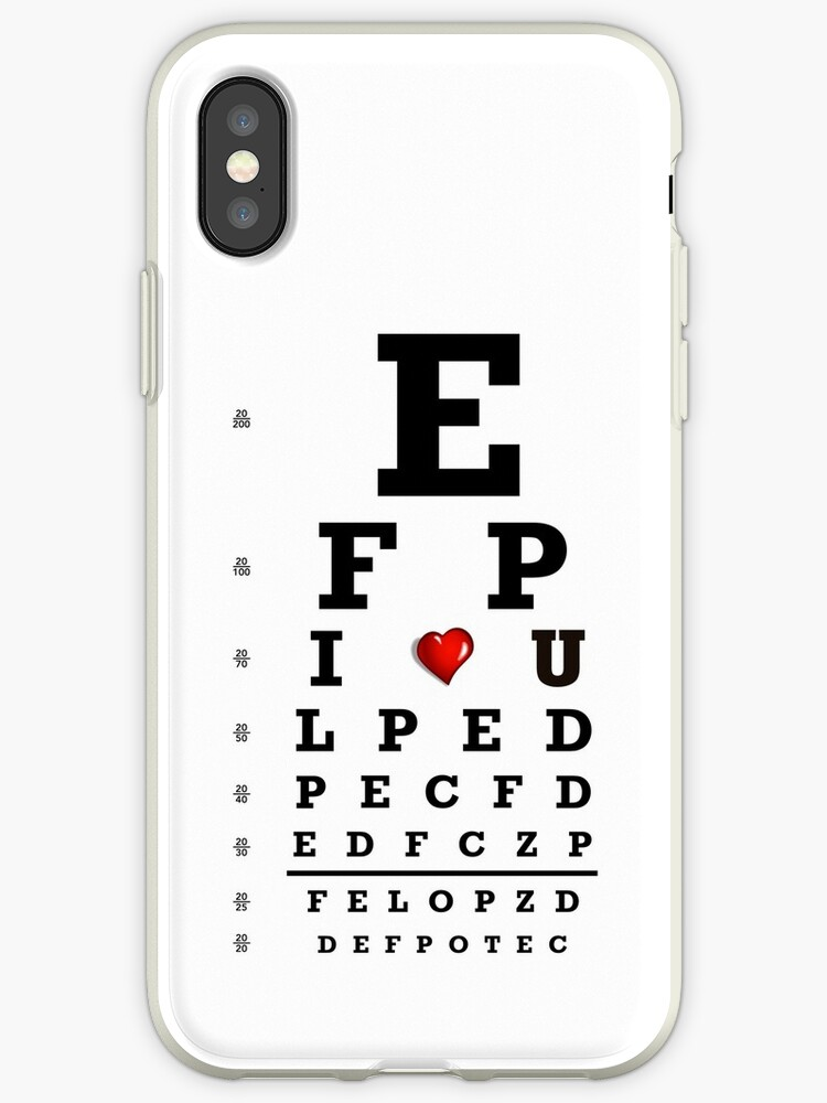 Eye Chart Optometry Optometrist Love Snellen Vision Iphone Cases