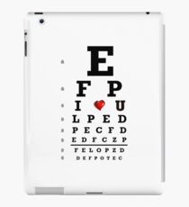 Eye chart optometry optometrist love Snellen vision iPad Case/Skin