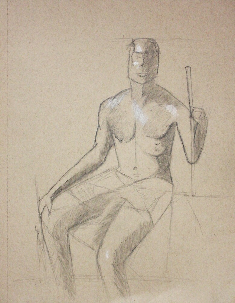 Figure Drawing by C. Rodriguez