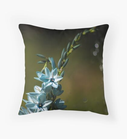 Blue Flowers really do Exist! Throw Pillow