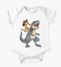 Cat Cowboy Riding T-rex Dinosaur T-shirt Funny Purrassic Kitty Kitten Dino Gifts Kids Clothes