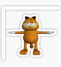 Garfield T-Pose Sticker