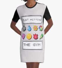 Pokemon hitting the gym Graphic T-Shirt Dress