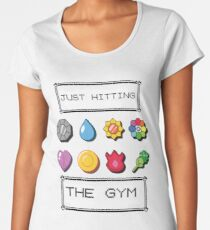Pokemon hitting the gym Women's Premium T-Shirt