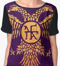 Byzantine Eagle Symbol Flag Chiffon Top