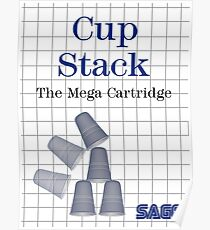 Cup Stack 3D Poster