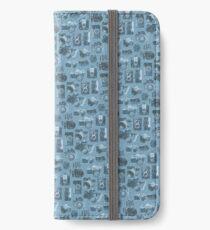 Blue Camera Pattern iPhone Wallet/Case/Skin