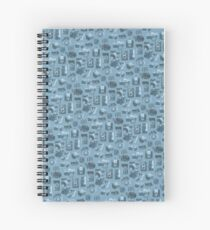 Blue Camera Pattern Spiral Notebook