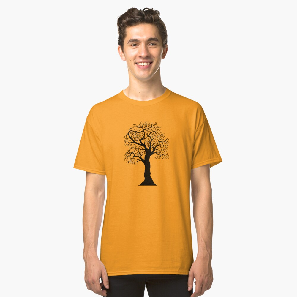 black tree  Classic T-Shirt Front