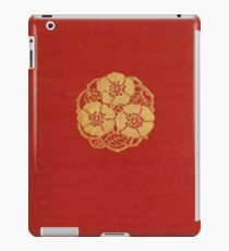 Red cloth book cover with gold border and flowers iPad Case/Skin