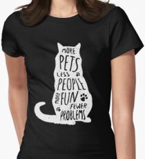 More pets, less people, more fun. Cat silhouette T-Shirt