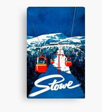 Vintage winter wonderland gondola winter sport snow ski Canvas Print