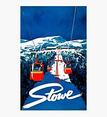 Vintage winter wonderland gondola winter sport snow ski Photographic Print