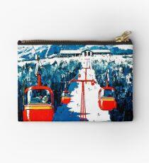 Vintage Stowe-Gondelwinterreiseski-Plakat Täschchen