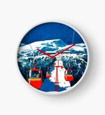 Reloj Cartel del esquí del viaje del invierno de la góndola de Stowe del vintage