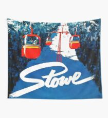 Vintage winter wonderland gondola winter sport snow ski Wall Tapestry