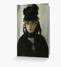 Berthe Morisot With a Bouquet of Violets by Edouard Manet Greeting Card