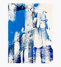 Shades of blue oblivion Photographic Print