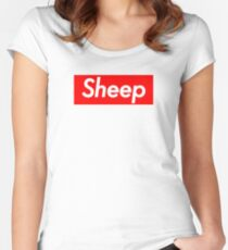 Sheep Squad (Supreme Parody) Women's Fitted Scoop T-Shirt