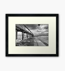 Sand Pumping Jetty Framed Print