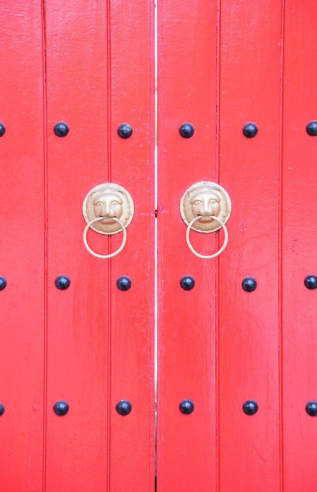 Red Doors for Luck by PixCrazy