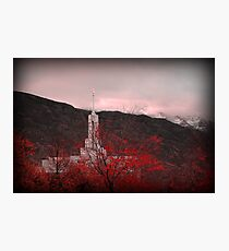 Mount Timpanogos Temple - Red Photographic Print