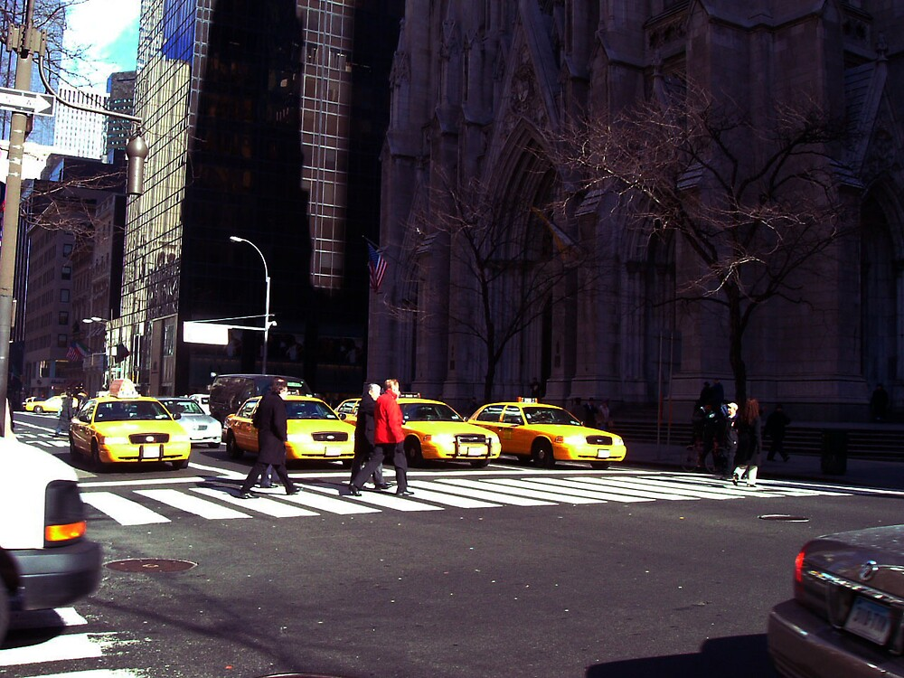 Big yellow taxi's by romeogigli