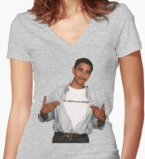 Young Barack Obama  Women's Fitted V-Neck T-Shirt