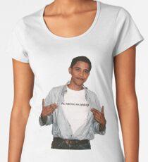 Young Barack Obama  Women's Premium T-Shirt