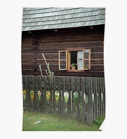Liptov house, Pribylina, Slovakia Poster
