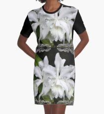 Elegant Orchids ~ Cluster of Three Graphic T-Shirt Dress