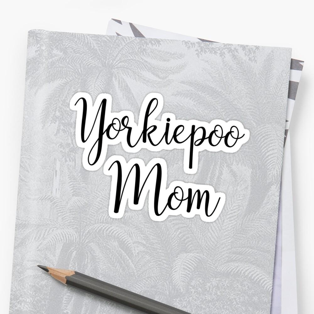 Yorkipoo Mom by Bailey C
