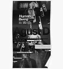 Agust D black Poster