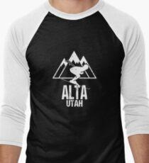 Alta Utah Skiing Retro Distressed T-Shirt