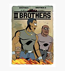 TWO BROTHERS!! - www.shirtdorks.com Photographic Print