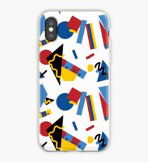 Postmodern Primary Color Party Decorations iPhone Case