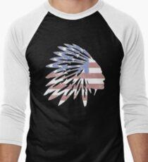 NAtive American Flag  Men's Baseball ¾ T-Shirt