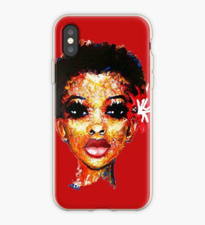 Lockiges Haar Kurzes Afro-Schwarzes Naturhaar Twa Big Chop iPhone-Hülle & Cover