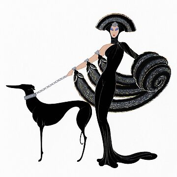Art Deco era Haute Couture Fashion illustration by Glimmersmith