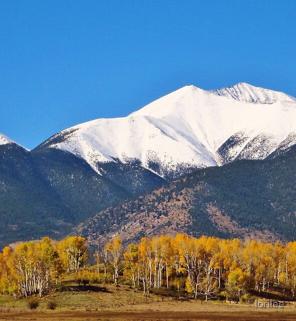 Autumn Snow on the Mountains  by lorilee