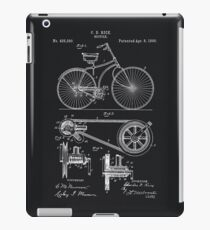 Vintage Bicycle patent illustration 1890 iPad Case/Skin