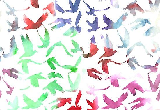 Watercolor Doves by EkaterinaP
