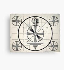 Retro TV Monoscope Test Pattern Canvas Print