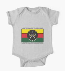 Black Panther Wakanda Flag One Piece - Short Sleeve