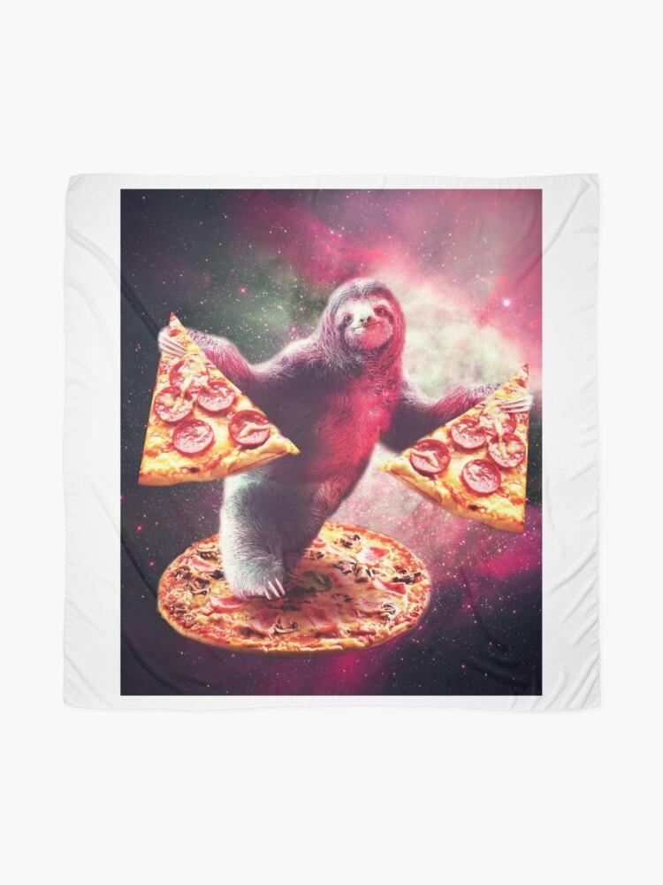 Alternative Ansicht von Lustige Space Sloth mit Pizza Tuch