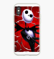 Jack Skellington in red iPhone Case