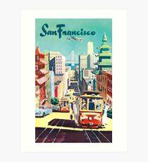 San Francisco - Vintage Travel Poster Art Print