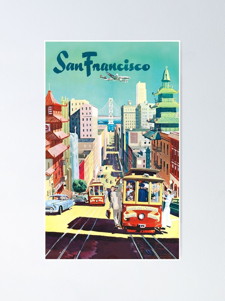Alternate view of San Francisco - Vintage Travel Poster Poster