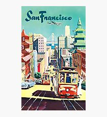 San Francisco - Vintage Travel Poster Photographic Print